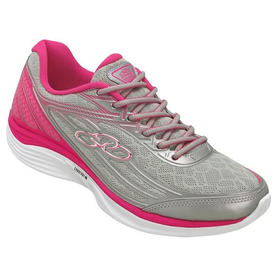 Tênis Olympikus Starter Feminino - Prata E Pink