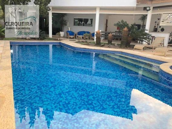 Casa Com 4 Dormitórios À Venda, 400 M² Por R$ 1.800.000 - Acapulco - Guarujá/sp - Ca0566