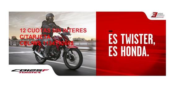 Honda Cb 125 F Twister 0km Fcia 12 S/int C/tarjeta Entga Ya