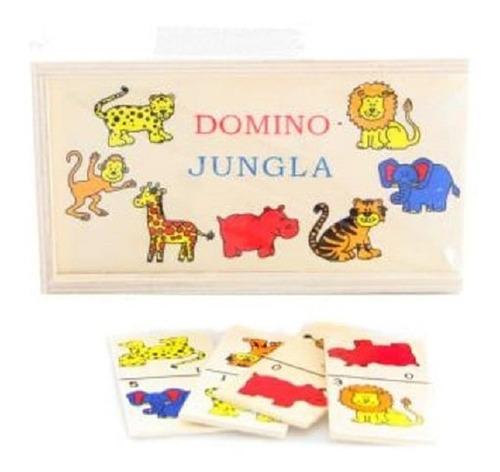 Domino Tematico En Madera,escuela,juego Infantil.niños,niñas