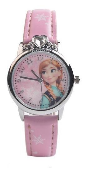 Relógio Infantil Modelo Frozen Anna E Elsa