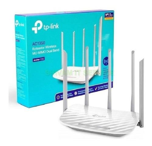 Imagen 1 de 4 de Router Tp Link Ac1350 Archer C60 5 Antenas Dual Band 5ghz
