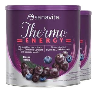Kit 2 Thermo Energy Termogênico Sanavita Frutas Roxa - 300g