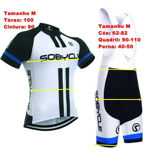 Camisa E Bretelle, Bermuda Ciclismo Coolmax Bike Roupa