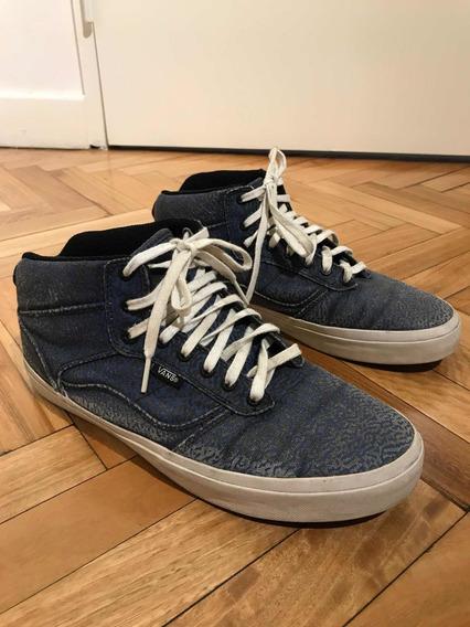 Zapatillas Azul Botita Vans Hombre