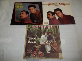 Lp Lote 3 Discos Zico E Zeca - Sertanejo