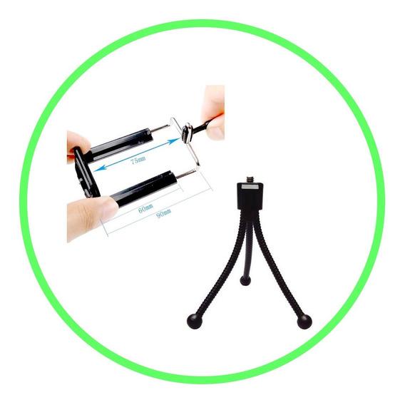 Kit C/ 10 Mini Tripé Flexível Octopus Suporte Camera Ação