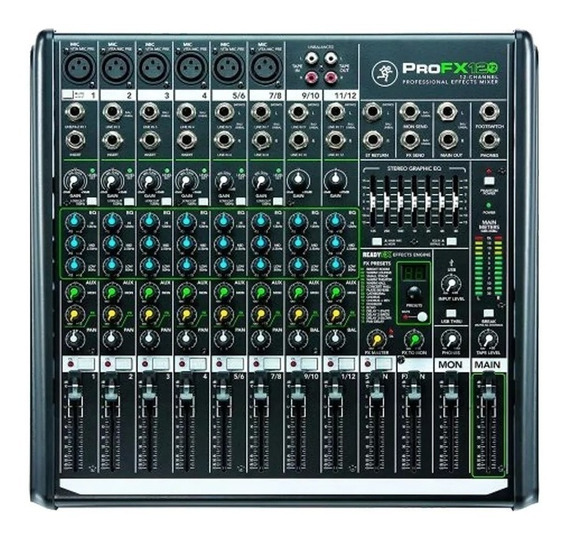 Mesa De Som Mackie Profx12v2 12 Canais Mixer Profx12 V2