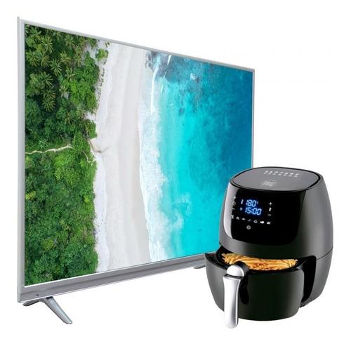 Televisor Smart Uhd 4k 55  (140cm) + Freidora  Xl  Familiar