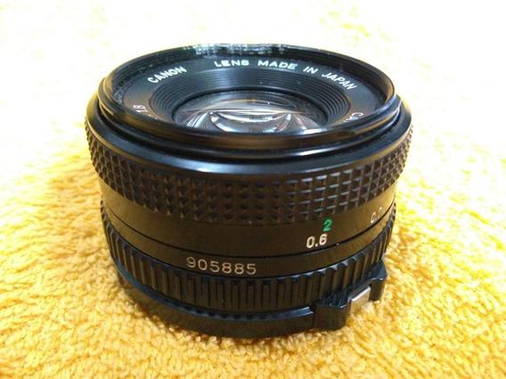 Lente Canon 50mm 1.8 (analógica - Não Serve Em Digital)