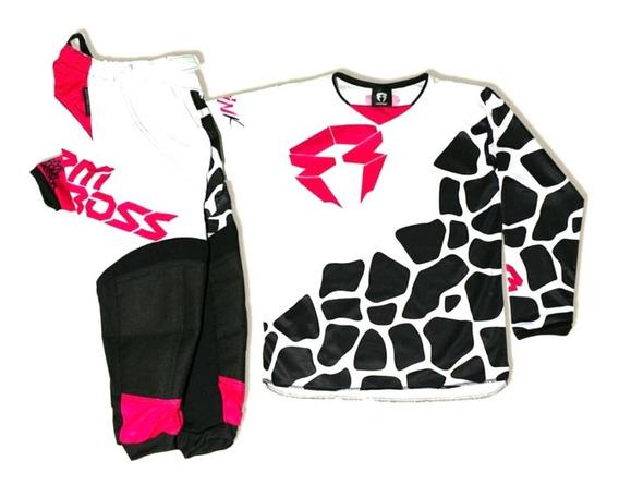 Conjunto Motocross Enduro Rpmcross Niño Pink 19 Solomototeam