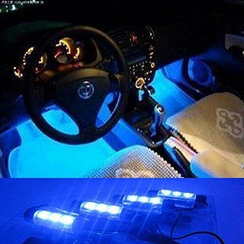 Kkmoon 12v 12 Led Car Auto Atmosfera Interior Luces Decoraci
