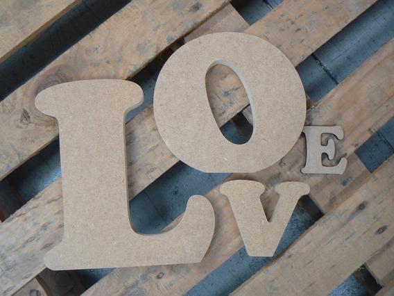 Letras En Mdf Para Cualquier Ocasión, Logos 20x20 3mm
