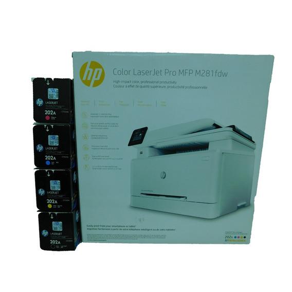 Combo Impresora Hp M281 Mf Y Toner 202a Negro Y Color Extra