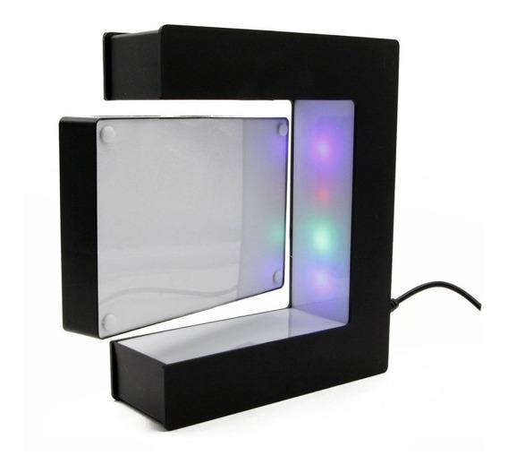 Porta Retrato Iluminado Flotante Led 2 Fotos Magnetico /e