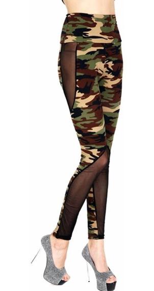 Leggings Ejercicio Colombiano Militar Camuflaje Sexy Levanta