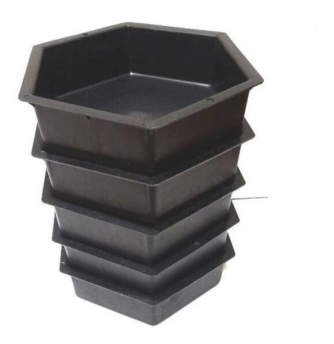 10 Moldes Forma Plástico Hexagonal Cimento Concreto 25x25x08