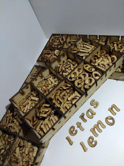 Pack 100 Letras Y Numeros 3cm Fibrofacil_mdf