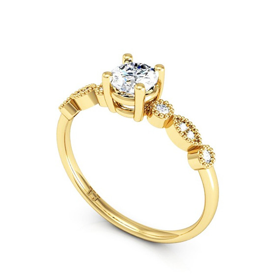 Anel Noivado In Amore Ouro 18k