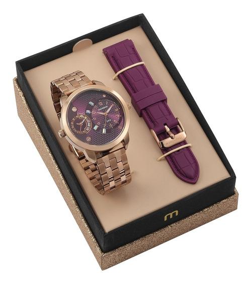 Kit Relógio Mondaine Feminino 76715lpmvre3k