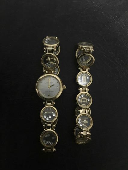 Relogio Anne Klein Com Bracelete