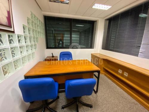 Imagem 1 de 12 de Sala Comercial De 40m², Duas Sala Com Ar Condicionado, Copa, 2 Banhs., 1 Vaga - Pinheiros - Cf68946