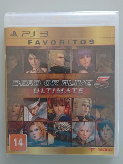 Dead Or Alive 5 Ultimate - Ver. Favoritos Ps3 Novo Lacrado