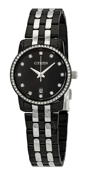 Reloj Citizen Eu6037-57e Negro Eu6037-57e