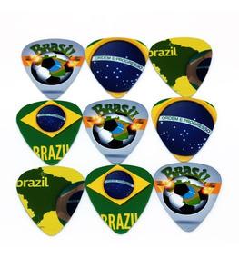 Palheta Personalizada Brasil Violão Guitarra Futebol 1 Unida