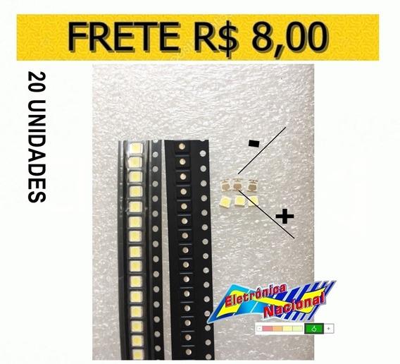 Led Smd 2835 3v 1w Tv Backlight Lg Innotek Original, 20pçs