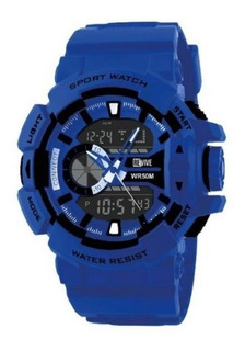 Reloj Revive Kr0706 Poliuretano Azul Hombre