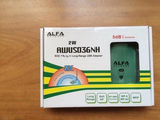 Alfa Network Antena Wifi Alta Potencia 2w Hackeo De Redes