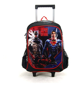 Mochila De Rodinha Batman Vs Superman Ref Ic31802sb Luxcel