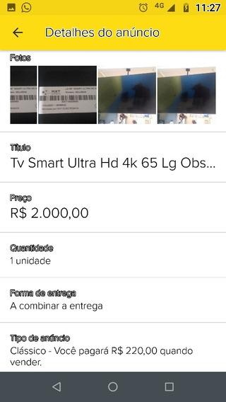 Tv 65 Com Tela Qbrada