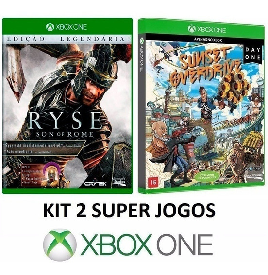 Ryse Son Of Rome + Sunset Overdrive - Midia Fisica Xbox One