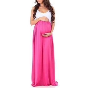 Vestido Maternidad Foto Baby Shower Talla M Rosa Fi Mother B