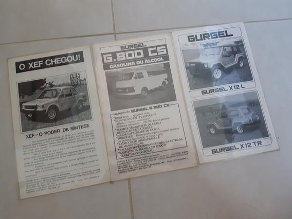 Brochura Gurgel Xef X12 G800
