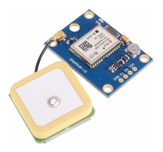Modulo Gps Ublox Neo6 Antena Activa Bateria Respaldo Arduino