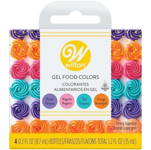 Imagen 1 de 6 de Colorante Gel Neon X4 Glase Para Masa Cremas Wilton Titanweb