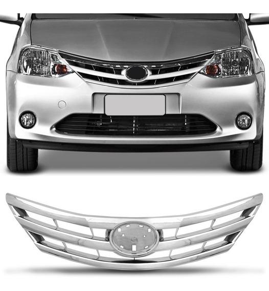 Grade Dianteira Toyota Etios 12 13 14 15 16 Cromada