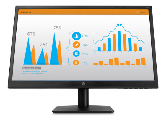 Monitor Hp N223 Led 21.5 Negro 100v/240v