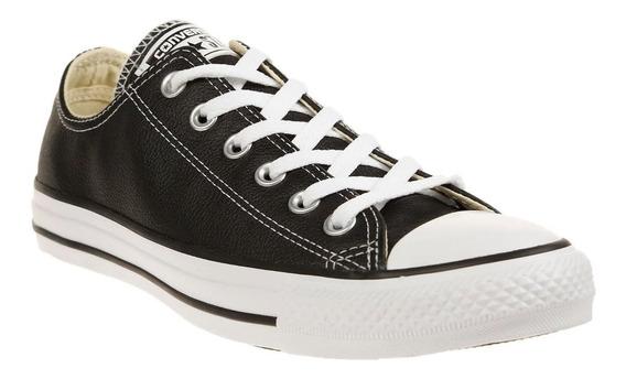 Tenis Converse Choclo Blanco/negro Piel 100% Originales