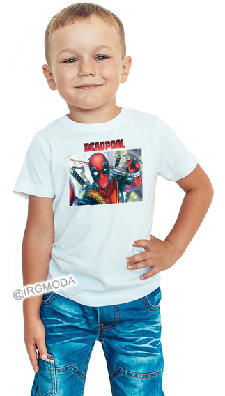 Camiseta Infantil Hombre Deadpool Moda Lifestyle Polialgodon