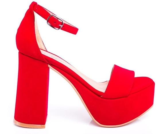 Sandalias Zapatos Plataformas Mujer Dama Taco Palo Fiesta