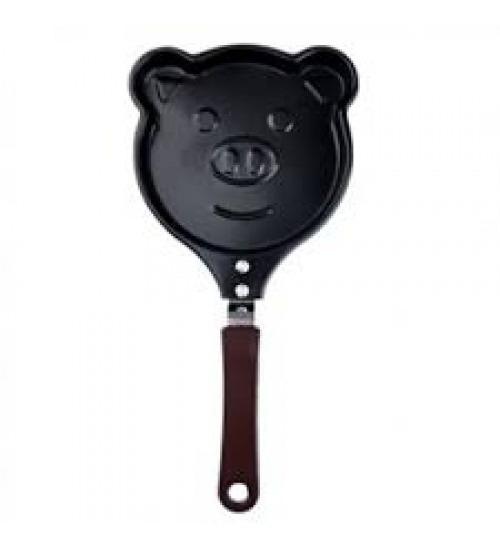 Mini Frigideira Para Panqueca Omelete Carinha Urso Ou Porco