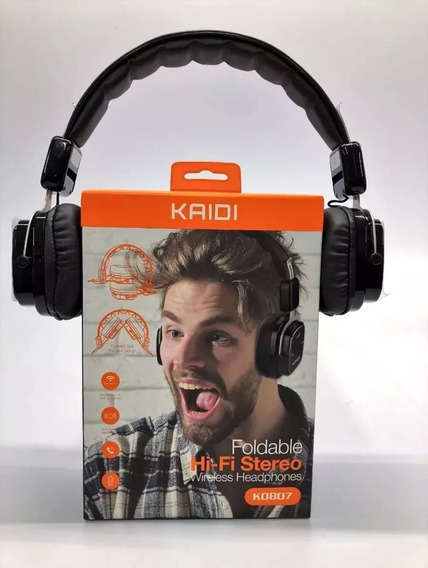 Fone De Ouvido Bluetooth Dobrável S/fio Hi-fi Kaidi Original