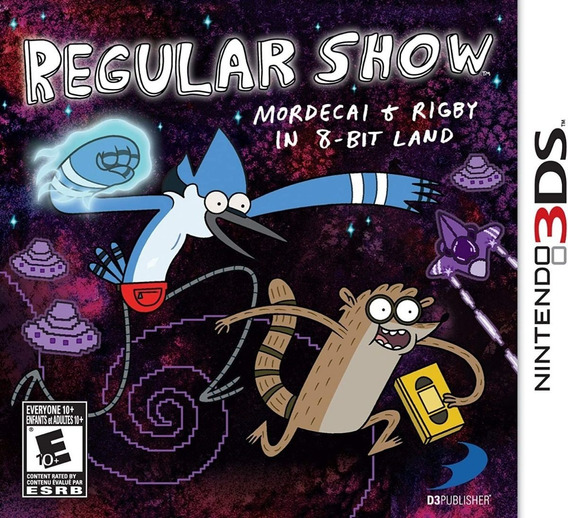 Regular Show Mordecai And Rigby In 8-bit Land Nintendo 3ds