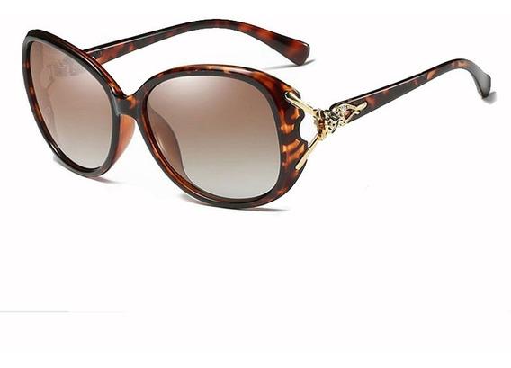 Óculos De Sol Feminino Original Onça Leopardo Kingseven® Uv400 Anti Uva E Uvb