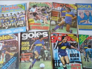 Lote 12 Revistas Boca Juniors Goles Futbol Antiguo Grafico