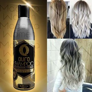Shampoo Gris Plata Silver Matizador Cabello Ouro 250 Ml 1pz